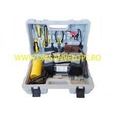 COMPRESOR AER 60 l/min cu 2 pistoane + KIT DE REPARATIE