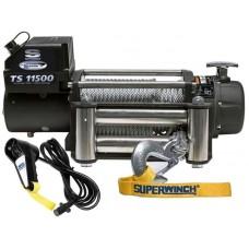 TROLIU ELECTRIC  SUPERWINCH TIGER  SHARK 11500-CU CABLU DE OTEL SI ROLE DIN ALUMINIU