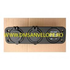 Panou intrerupatoare auto Priza-USB-Tensiometru
